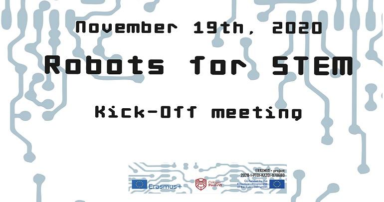 Reunião inicial do projeto Erasmus+ KA202 Robots for STEM